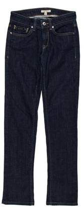 Burberry Low-Rise Straight-Leg Jeans