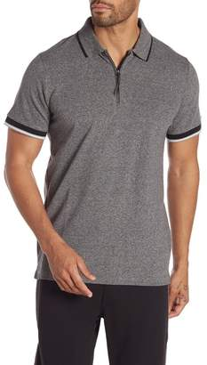 Kenneth Cole New York Short Sleeve Zip Polo Shirt