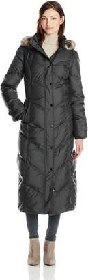 London Fog Women's Chevron Maxi Down Coat