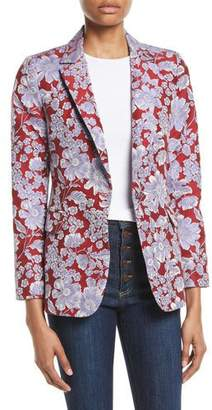 Alice + Olivia Macey Notch-Collar Fitted Blazer