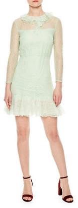 Sandro Flashback Haiti Lace Flounce Dress