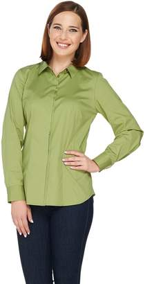 a94052dae686f0 Button Front Blouse with Princess Seams