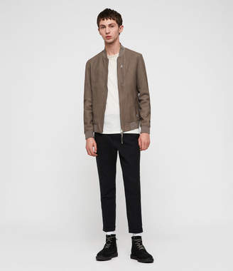 AllSaints Konrad Leather Bomber Jacket