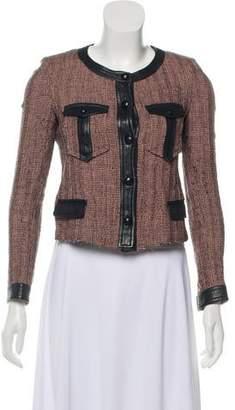 Isabel Marant Leather-Trimmed Wool-Blend Jacket