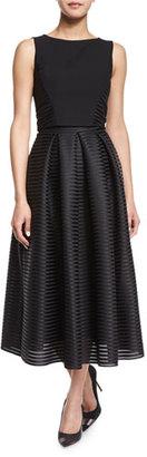 Black Halo Sleeveless Two-Piece Tea-Length Cocktail Dress $875 thestylecure.com