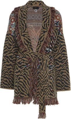 Alanui Fair Isle Animalier Cashmere Cardigan Size: M
