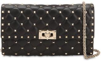 Valentino Spike Leather Clutch
