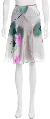 Giorgio Armani Knee-Length Silk Skirt