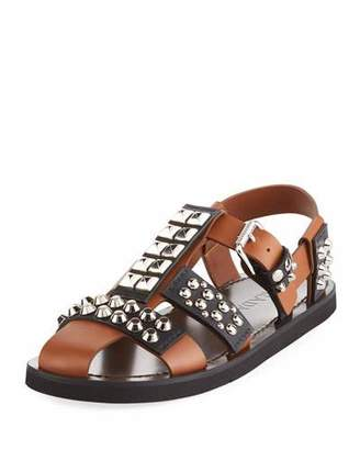 Prada Novo Studded Leather Sandal