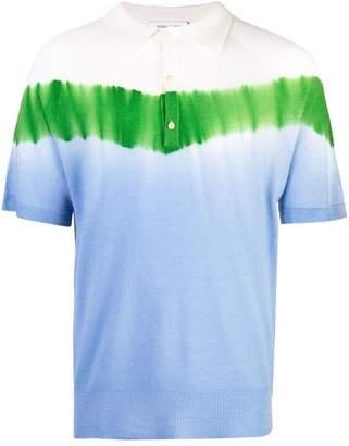 Prabal Gurung tie dye colourblock polo shirt