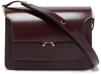 Marni Trunk Medium Leather Bag - Womens - Burgundy
