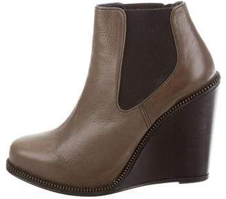 Opening Ceremony Leather Wedge Booties w/ Tags