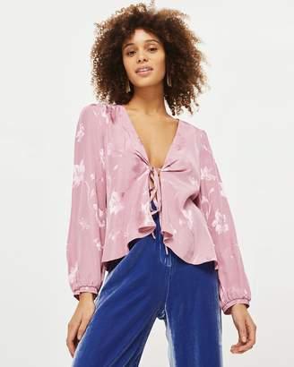 Topshop Jacquard Bed Jacket