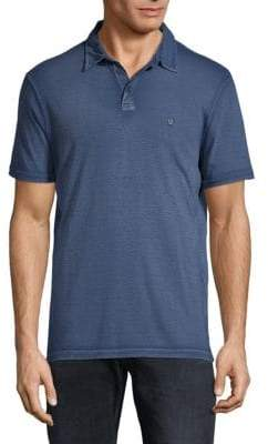John Varvatos Pigment Rub Peace Cotton Polo