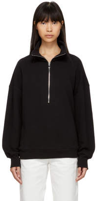 Simon Miller Black Rime Half-Zip Sweater