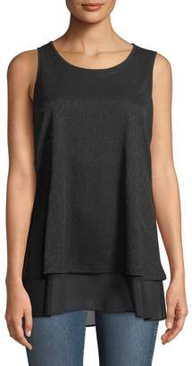 Neiman Marcus Double-Layered Tank Top