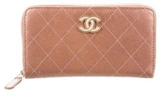 Chanel Quilted Small Zip Around Wallet
