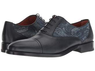 Etro Paisley Printed Cap Toe Oxford