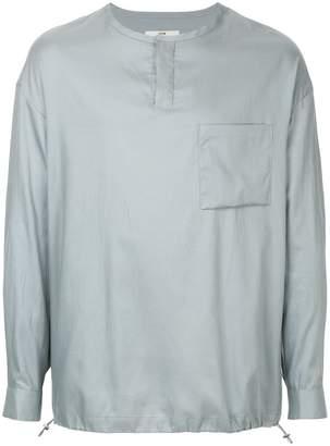 System button-neck shirt