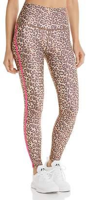 Wear It To Heart Side-Stripe Leopard Print Leggings