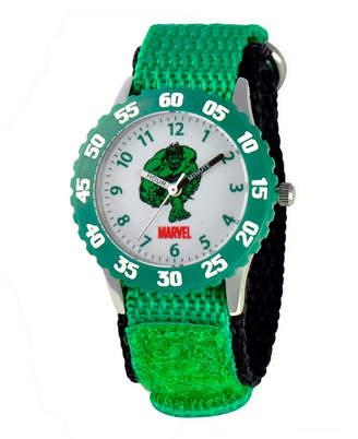 EWatchFactory Marvel Comics Hulk Boys' Stainless Steel Time Teacher Watch