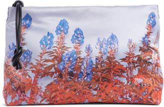 Dries Van Noten Floral Print Satin Clutch