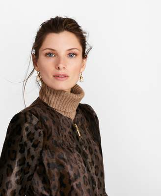 Brooks Brothers Leopard-Print Velvet Jacket
