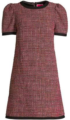 Kate Spade Tweed Puff-Sleeve Shift Dress