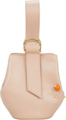 Intermix Adeam Double Piercing Pink Leather Bucket Bag