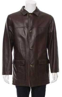 Loro Piana Leather & Cashmere Coat