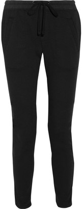 James Perse - Cotton-blend Twill Tapered Pants - Black $225 thestylecure.com