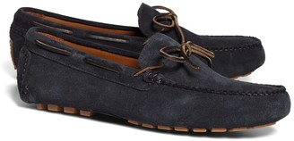 Brooks Brothers Suede Tie Driving Moccasins