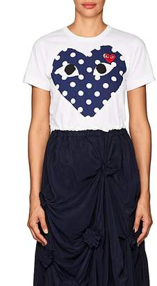 Comme des Garcons Women's Cotton Polka Dot Heart T-Shirt