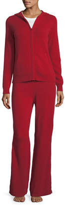 Neiman Marcus Cashmere Hoodie & Pant Lounge Set