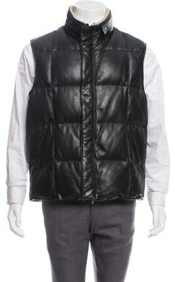 Loro Piana Quilted Leather Vest