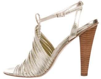 Calvin Klein Metallic Cage Sandals