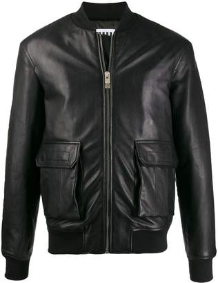 Les Hommes Urban short leather jacket