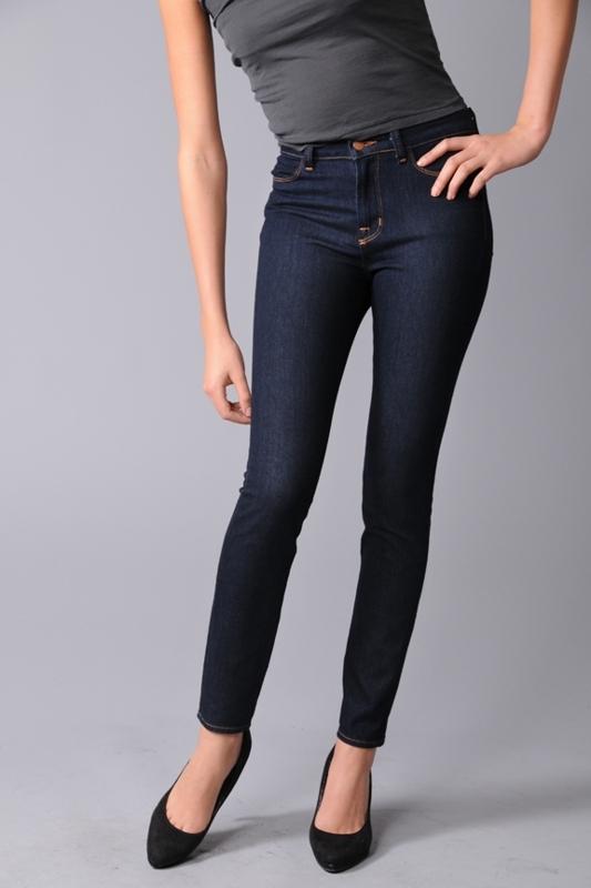 "J Brand 10"" High Rise Skinny Ankle Jeans - 210 in Indigo"