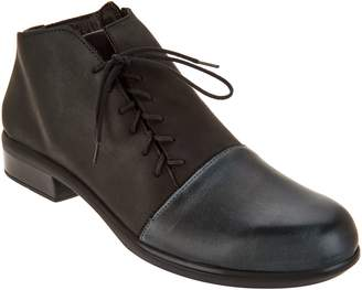 Naot Footwear Leather Outside Lace-up Ankle Boots - Camden