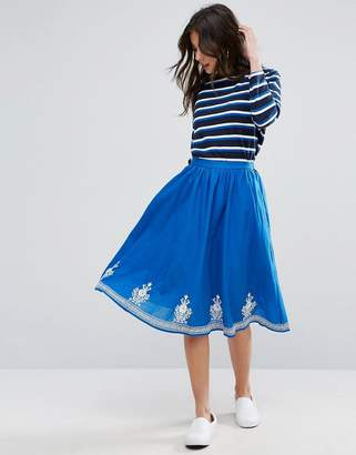 YMC Floral Embroidery Skirt