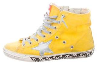 Golden Goose Distressed High-Top Sneakers