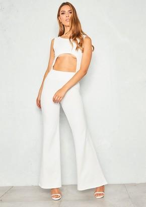 ebe1556db7c8 Missy Empire Missyempire Sammie White Cut Out Jumpsuit