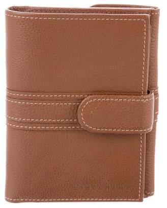Longchamp Leather Flap Wallet