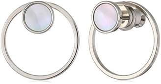Skagen Women's Agnethe -Tone Mother-of-Pearl Stud Earrings
