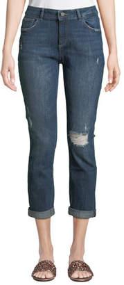 DL1961 Premium Denim Stevie Distressed Slim Boyfriend Jeans