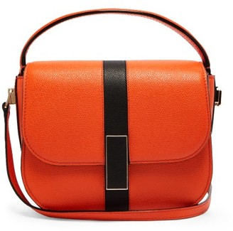 Valextra Iside Grained Leather Cross Body Bag - Womens - Orange