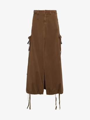 Palm Angels High waisted cargo skirt