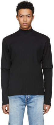 John Lawrence Sullivan Johnlawrencesullivan Black Ribbed Turtleneck