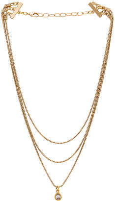 Frasier Sterling Glitter & Gold Layered Necklace