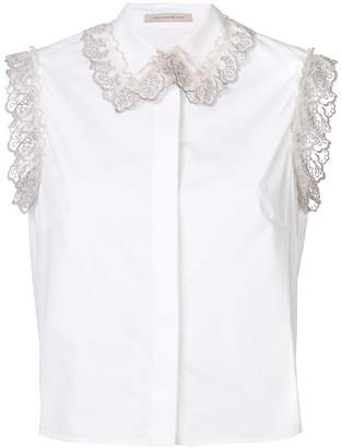Christopher Kane ruffle trim shirt
